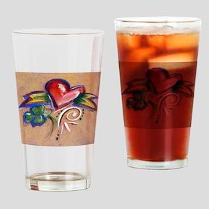 Heart Banner Drinking Glass