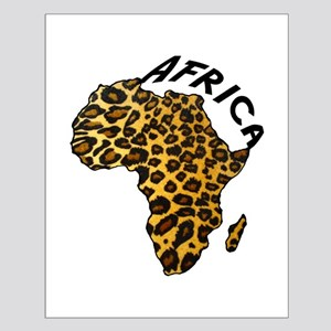 Leopard Africa Map Small Poster