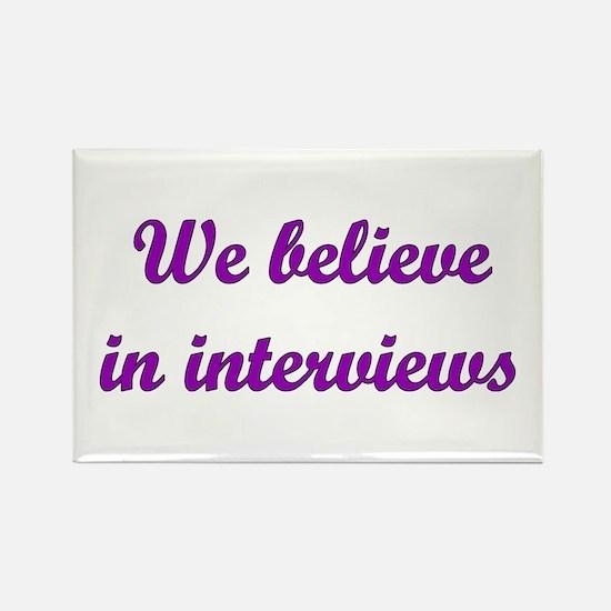 Interviews Rectangle Magnet
