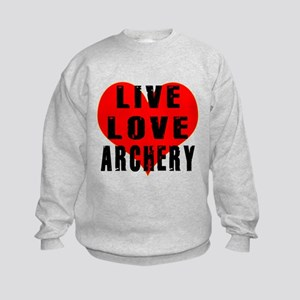 Live Love Archery Kids Sweatshirt