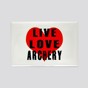 Live Love Archery Rectangle Magnet