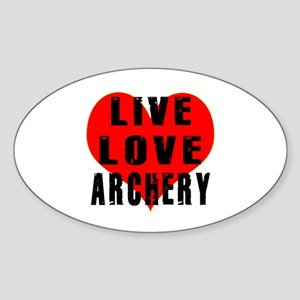 Live Love Archery Sticker (Oval)