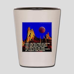 The Blaze Time & Place Shot Glass