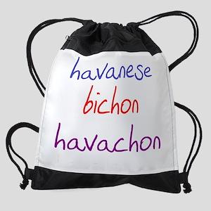 havachon_black Drawstring Bag