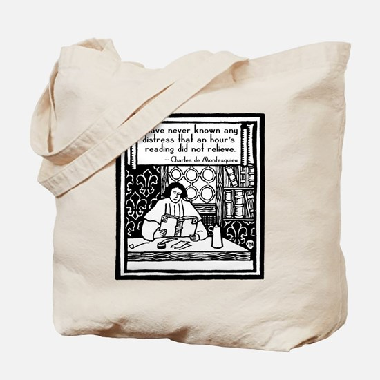 Quote about Reading on a Book or Tote Bag