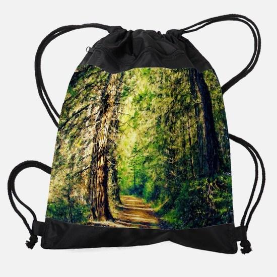 Sunlit Trail Drawstring Bag