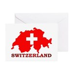 Switzerland-4 Greeting Cards (Pk of 20)