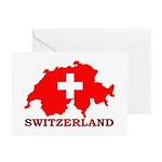 Switzerland-4 Greeting Cards (Pk of 10)