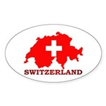 Switzerland-4 Sticker (Oval 50 pk)