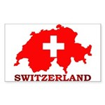Switzerland-4 Sticker (Rectangle 50 pk)