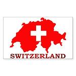 Switzerland-4 Sticker (Rectangle 10 pk)