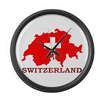 Switzerland-4 Large Wall Clock
