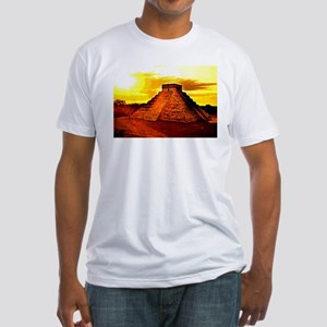Mayan Temple Fitted T-Shirt