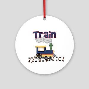 Train Keepsake Ornament (Round)