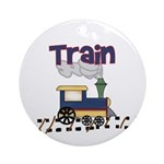 Train Keepsake Ornament (Round)