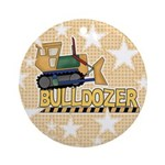 Bulldozer Ornament (Round)