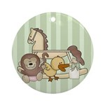 Baby Toys Keepsake Ornament (Round)