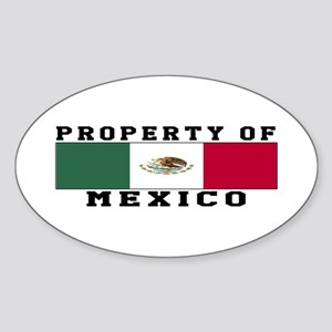 Property Of Mexico Sticker (Oval)