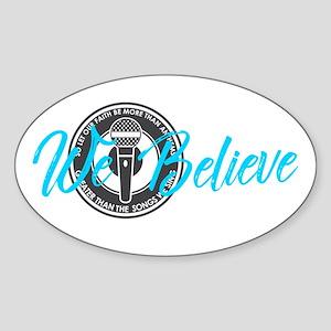 We Believe Sticker (oval)
