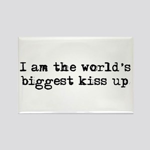 World's Biggest Kiss Up Rectangle Magnet
