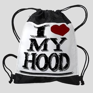 I LUV MY HOOD Drawstring Bag