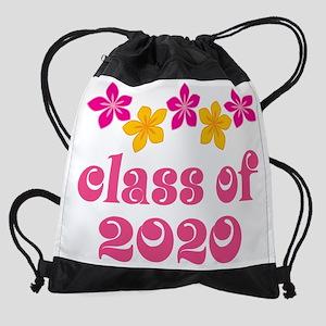 2020 flower border ne Drawstring Bag