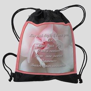 Breast cancer survivor Drawstring Bag