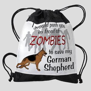GSD vs Zombies Drawstring Bag