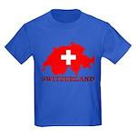 Switzerland-4 Kids Dark T-Shirt