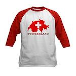 Switzerland-4 Kids Baseball Jersey