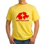 Switzerland-4 Yellow T-Shirt