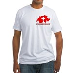 Switzerland-4 Fitted T-Shirt