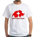 Switzerland-4 White T-Shirt