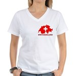 Switzerland-4 Women's V-Neck T-Shirt