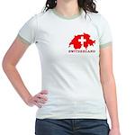 Switzerland-4 Jr. Ringer T-Shirt
