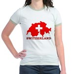 Switzerland-4 Jr. Ringer T-Shirt