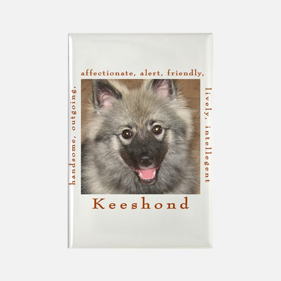 Unique Keeshound dog breed Rectangle Magnet