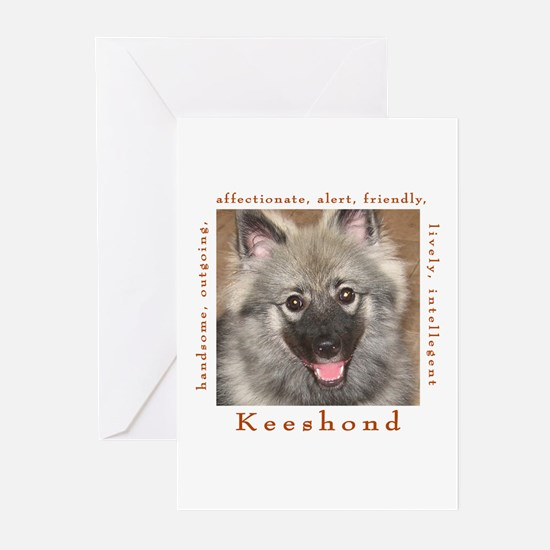 keeshond1 Greeting Cards