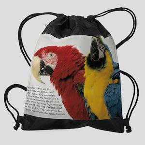 08 august - macaws Drawstring Bag