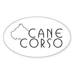 Cane Corso Oval Sticker