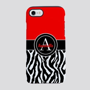 Red Zebra iPhone 7 Tough Case