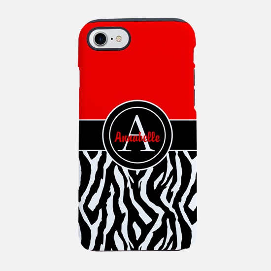 Red Zebra iPhone 7 Tough Case