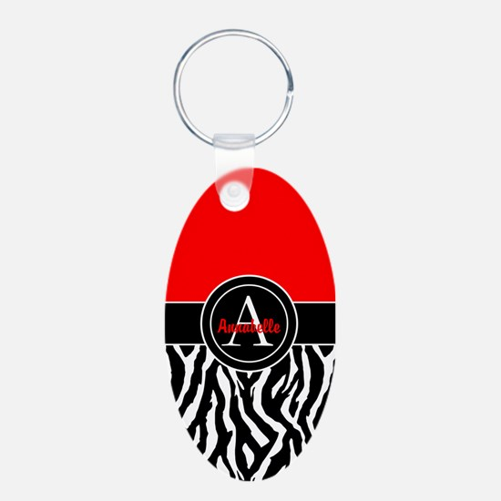 Red Zebra Keychains
