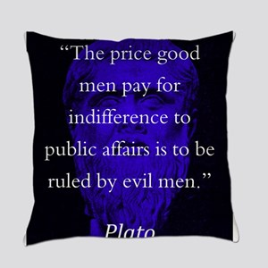 The Price Good Men Pay - Plato Everyday Pillow