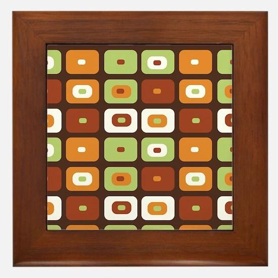 Brown Mosaic Framed Tile