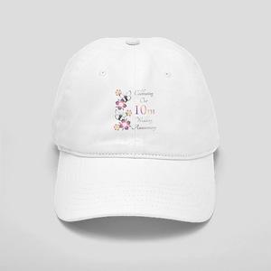 Elegant 10th Anniversary Cap
