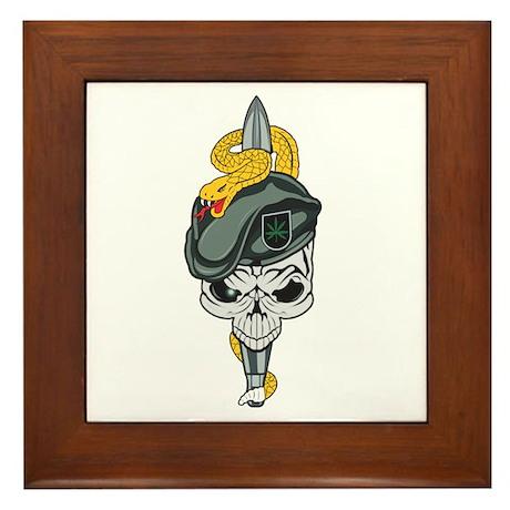 Special Forces Skull Framed Tile