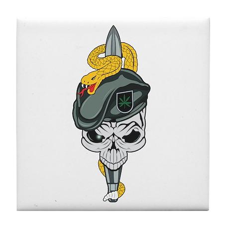 Special Forces Skull Tile Coaster