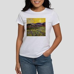 Van Gogh Field with Rising Sun T-Shirt