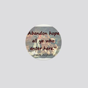 Abandon Hope - Dante Mini Button